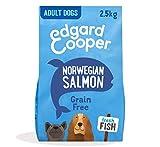 Edgard & Cooper Pienso Perros Adultos Comida Seca Natural Sin Cereales Hipoalergenico 2.5kg Salmon Fresco, Fácil de digerir, Alimentación Sana Sabrosa y equilibrada, Proteína
