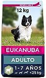 Eukanuba Alimento seco para perros adultos de razas pequeñas y medianas, rico en cordero y arroz, 12 kg