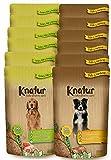 Alimento Natural casero para Perros, húmedo con Carne Fresca y Verduras Frescas - 90% Carne Knatur (12x600gr) (Mix (Pollo) - (Cordero, Pollo))