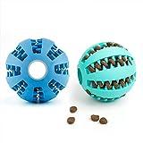 DEWEL 2pcs Pelota Perro Maticar Mascota Pet Ball Juguetes para Mascotas Elasticidad Diente Bola de Limpieza